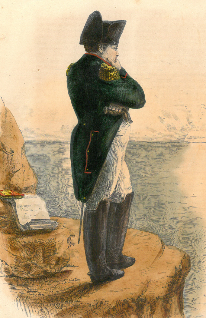 Napoleon in exile on the island of Saint Helena